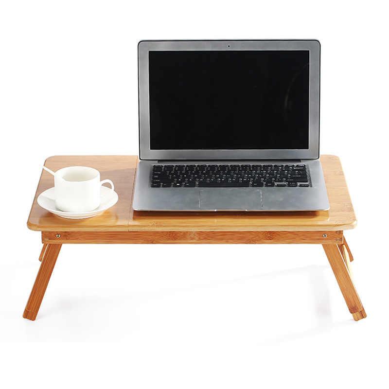 Эргономика регулируемый ноутбук стол чистый желтый бамбук складной завтрак сервировки кровать лоток уютный США Россия наличии