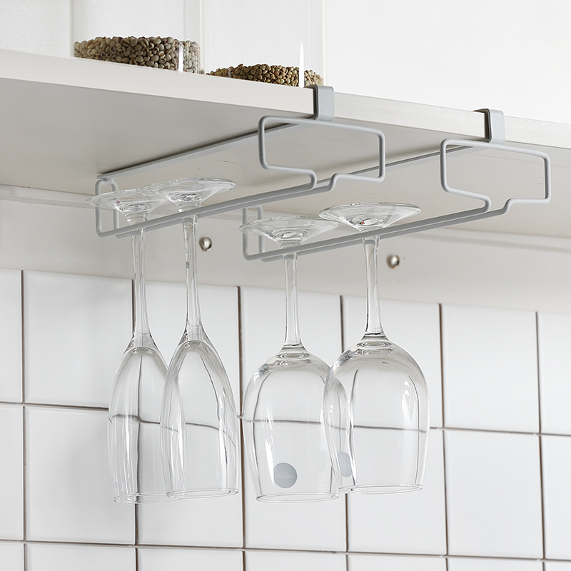 Red Wine Cup Rack Upside down Rack In Lechefs Household High legged Rack Creative Wine Cup Rack Nail free Hanging Cup Rack