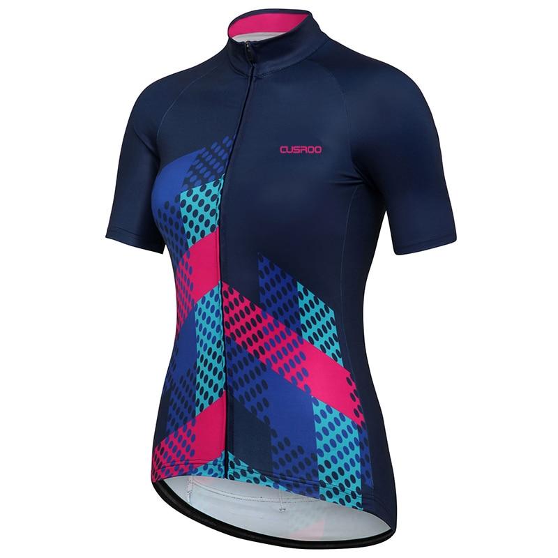 CUSROO 2017 new women\u002639;s short sleeve cycling jersey custom made girl summer bike clothing lady
