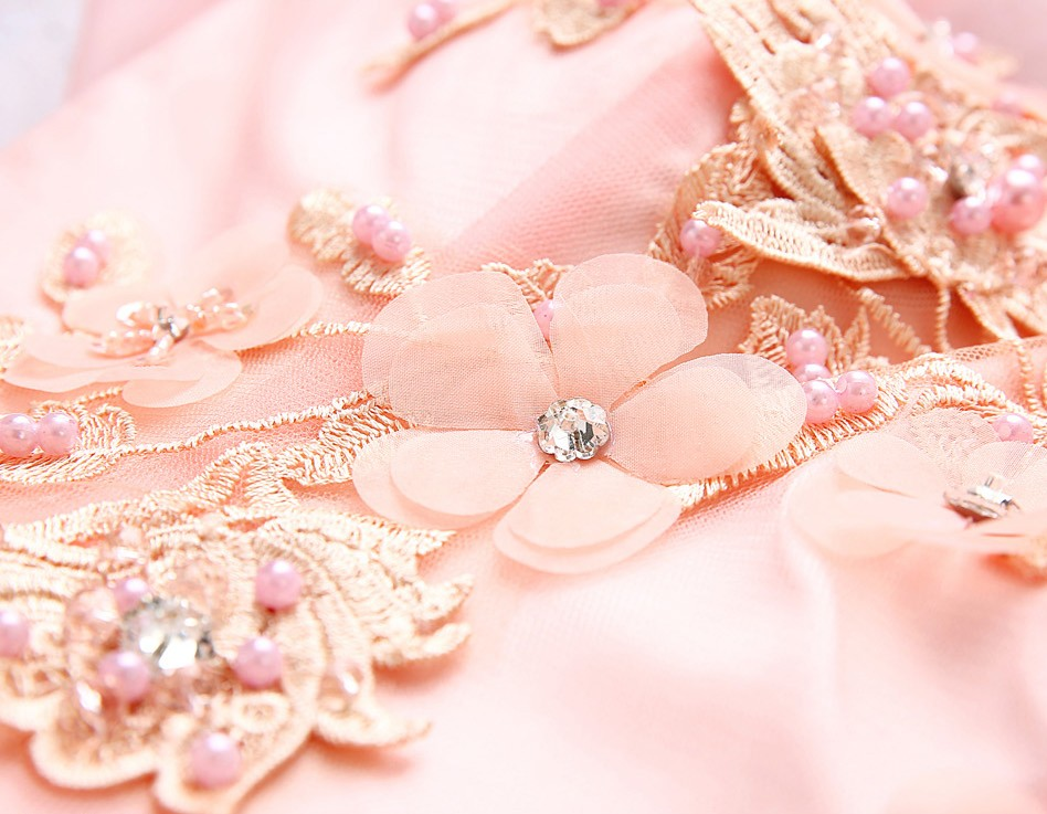 Nuevo gris y rosa vestido de novia de la boda rosa orange orange ...