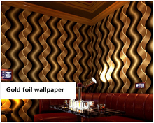 beibehang Classic reflective wall paper vertical stripes wave ballroom ktv theme room papel de parede 3d wallpaper 3D background недорого