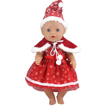 Christmas Sets Doll Dress Fit For 43cm  Doll Reborn Babies Doll Clothes And 17inch Doll Accessories