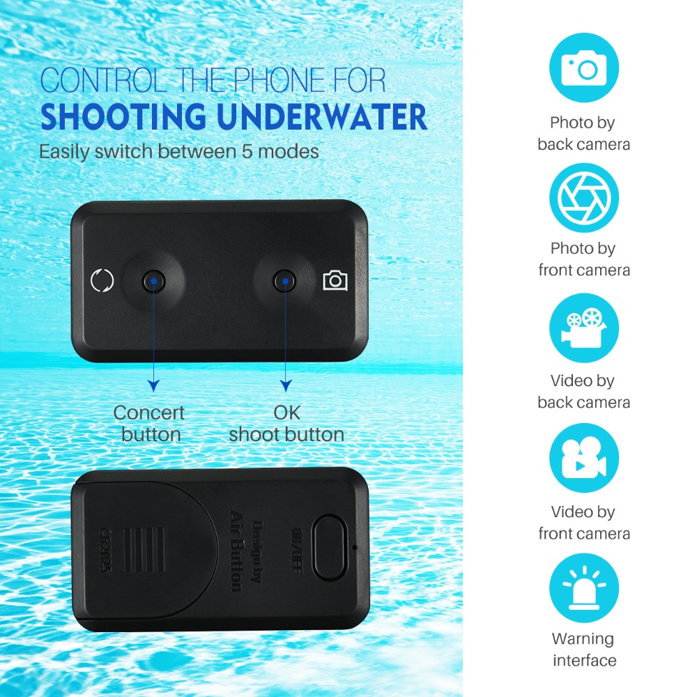 Mpow IPX8 Waterproof Phone Pouch Case Swimming Bag Underwater Dry Bag with Bluetooth Controller for iPhone X 8 pochette etanche in Swimming Bags from Sports Entertainment