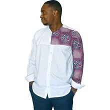Мужская рубашка с принтом в африканском стиле повседневная мужская