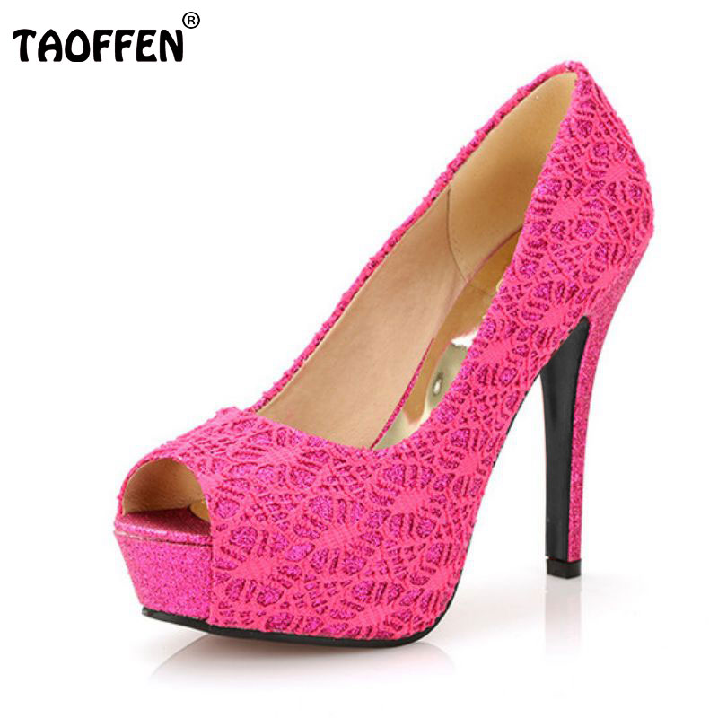 TAOFFEN free shipping high heel shoes women sexy dress footwear fashion lady female pumps P13067 hot sale EUR size 32-44 hot sale brand ladies pumps sexy women high heels platform sexy women high heel pumps wedding shoes free shipping 2888 1