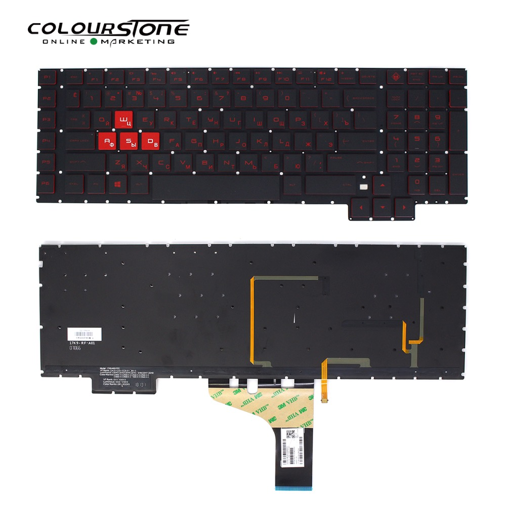 17-AN Russian Laptop Keyboard For HP Omen 17-an00 17-an013tx 17-an014tx WIth  Backlit Gaming ru Standard notebook Keyboard 17-AN Russian Laptop Keyboard For HP Omen 17-an00 17-an013tx 17-an014tx WIth  Backlit Gaming ru Standard notebook Keyboard