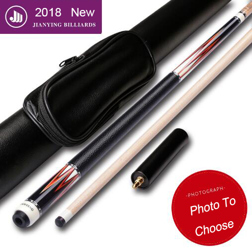 2018 High-end Pool Cue with Case with Extension Pool Cues Stick 12.75mm Tip Stick Smart Billiard Cues Pool Stick Canadian Maple