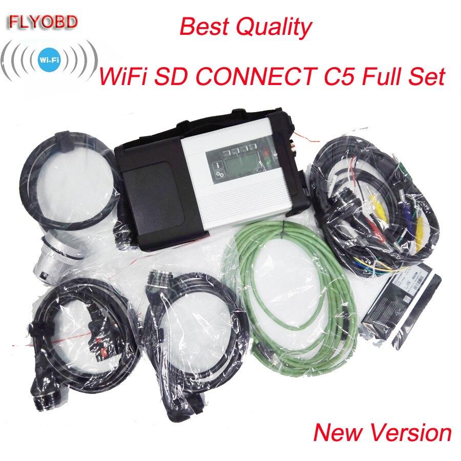 Best Qualità MB Star C5 Strumento di Diagnostica OBD Star diagnosi SD Connect Compact 5 wifi di Sostegno Diagnosticare senza SSD Software
