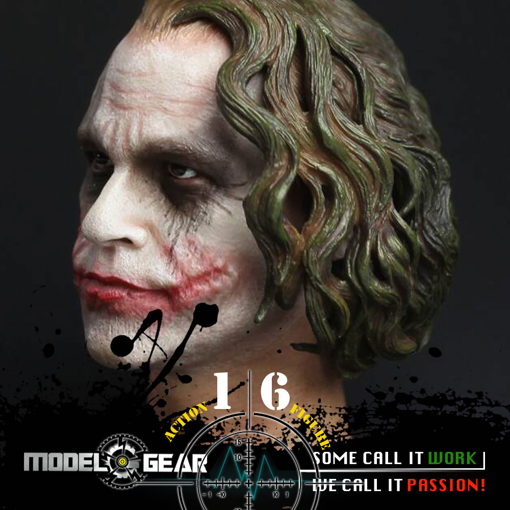 1/6 Scale Action Figure CGL Joker Male Head Sculpt T-09C Suitable for 12'' Model Toy mnotht 1 6 action figure panzer third