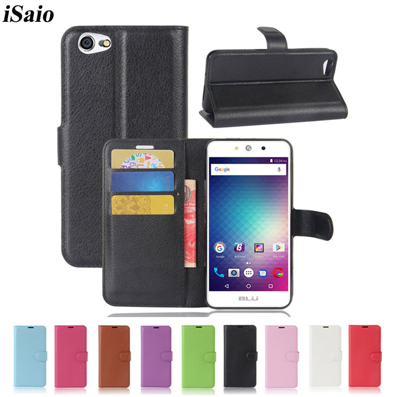 For BLU Grand M Case Wallet Flip Cover for BLU R1 HD Leather Phone Case Covers TPU Shell Stand with Card Slot Holders image