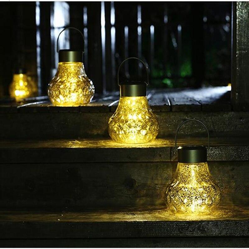 Led bulb shape Wateproof Solar lamp sensor light path street lights garden decoration chandelier outdoor lighting