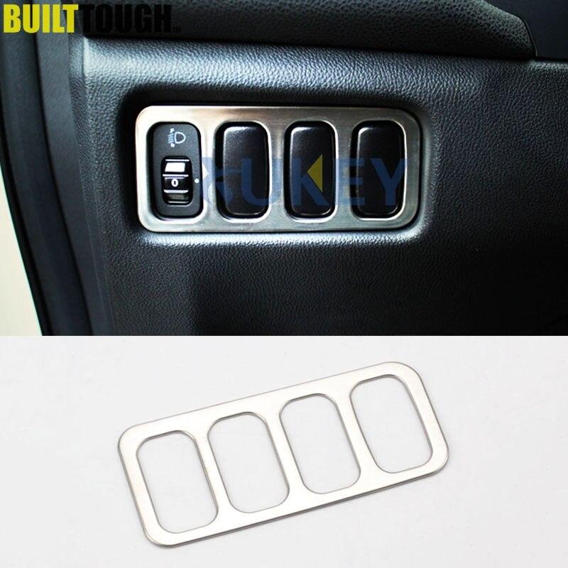 Хромированный головной светильник для Mitsubishi ASX Outlander Sport RVR 2011 2012 2013 2014 2015, лампа, переключатель, панель, отделка, декор