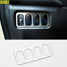 Garniture de panneau de boutons de lampe frontale chromée, pour Mitsubishi ASX Outlander Sport RVR 2011 2012 2013 2014 2015