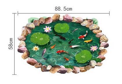 Pulsuz çatdırılma yeni cizgi filmi goldfish lotus yataq otağı - Ev dekoru - Fotoqrafiya 4