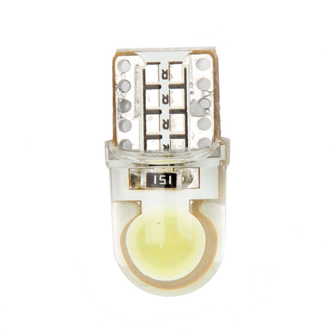 Auto T10 Pure White 194 W5W  168 COB 8-SMD Silica Car LED Super Bright Turn Side License Plate Light Lamp Bulb DC12V cn360 10pcs super bright smd 12v t10 w5w 168 194 car led auto clearance door reading license plate lamp bulb 2 years warranty