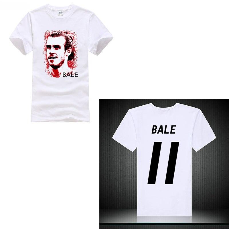 Bale NO.11 player fooballer golden man madrid city Hot Sale Men T Shirt Fashion