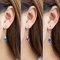Fashion Crystal Earring Jewelry & 925 Sterling Silver Drop Small Earrings Long Gold Dangles Amethyst Crystal Earrings for Women
