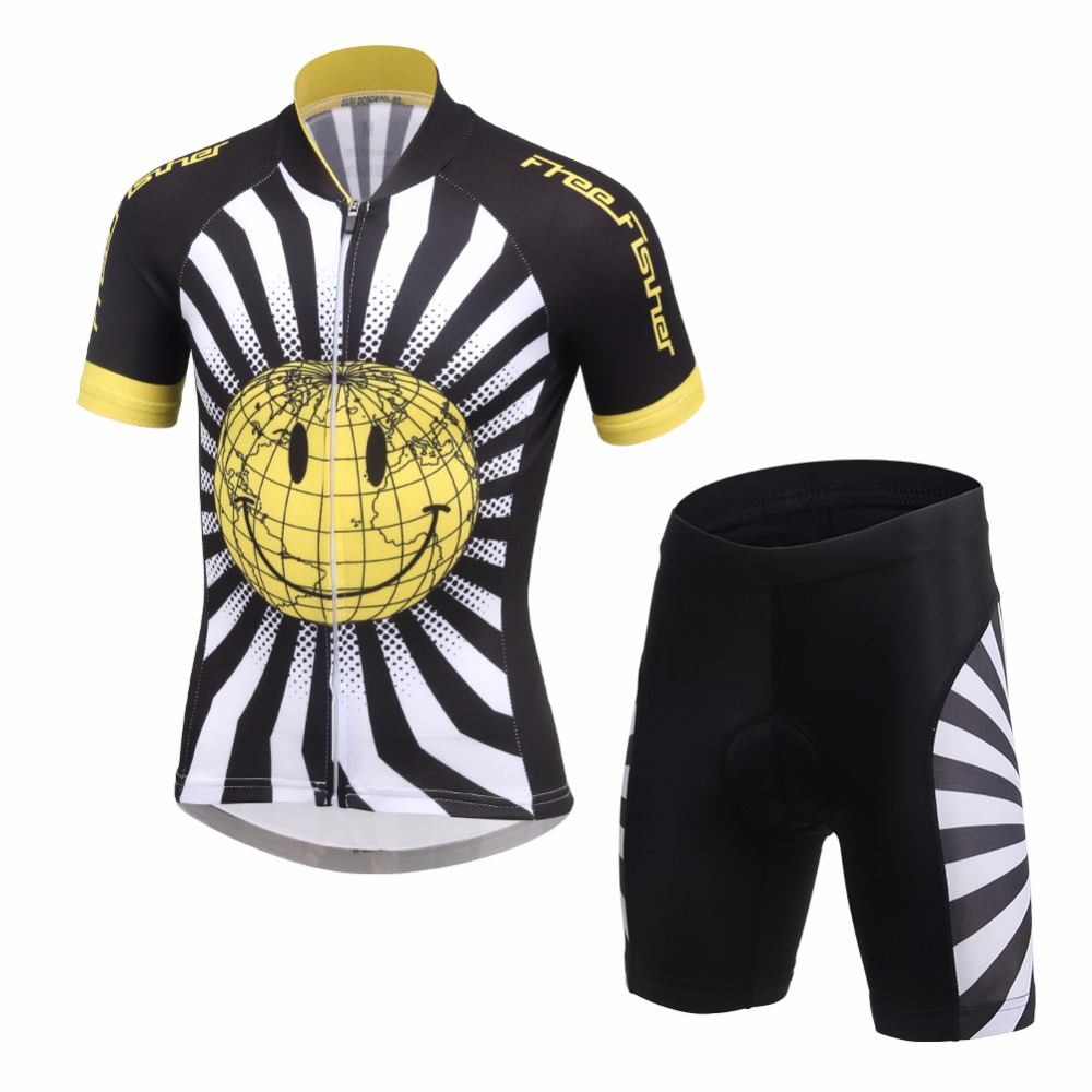 2017 Kids Cycling Jerseys set Bike Children Ropa Ciclismo Short Sleeve Summer Wear Bicycle Clothes Suits M-3XL children s bicycle kids balance bike ride on toys for kids four wheels child bicycle carbon steel bike for children 1 2 years