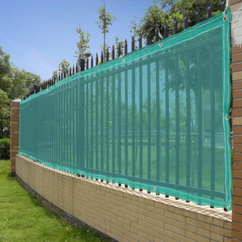 50u0027 Fence Screen Mesh Privacy Fabric Slat Windscreen For 4u0027 Garden Patio  Fencing