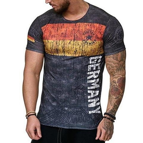 HEFLASHOR Casual Printed Male T Shirt 2019 Fashion Short Sleeve  Tee Tops Male Hip Hop Streetwear Fitness Men Tshirts 3XL Lahore