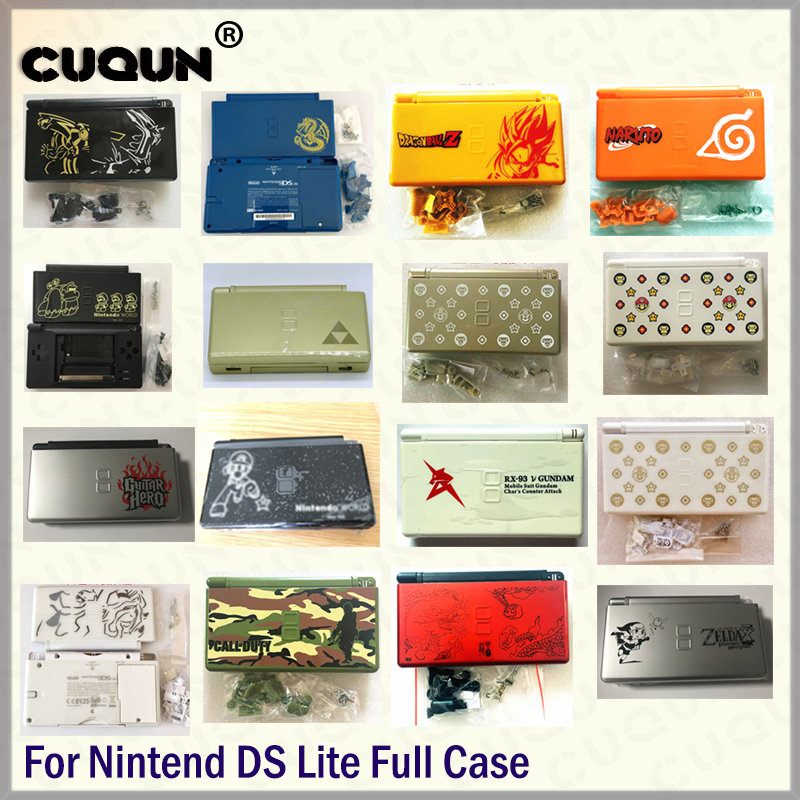 40 Colors Full Housing Case For Nintend DS Lite Console Case  Repair Housing Shell Free Screwdriver & Protective Screens Set