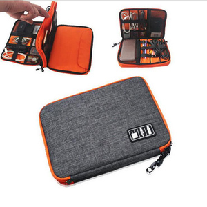 Image 3 - waterproof Ipad organizer USB data cable earphone wire pen power bank travel storage box kit case digital gadget devices