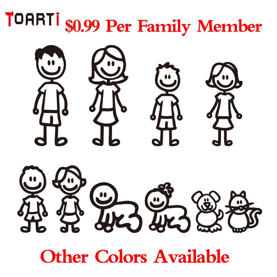 Stick Family Window Decals PromotionShop For Promotional Stick - Family window decals