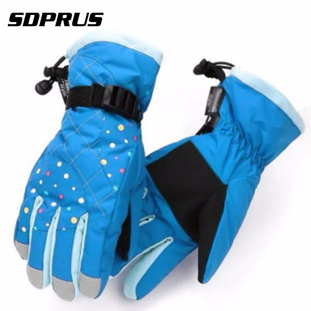Buy Cheap 2018 New Women Winter Waterproof Ski Gloves Warm Skiing Snowboard Gloves Snowmobile Motorcycle Riding Winter Outdoor Snow Gloves Beautiful In Colour