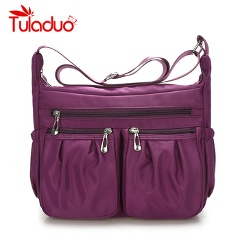 2018 New Casual Nylon Bag Shoulder Bags Messenger Multilayer Bag Waterproof Nylon Lady Mom Casual Handbag Bolsos sac a main