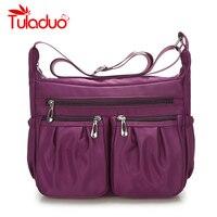 2017 New Casual Nylon Bag Shoulder Bags Messenger Multilayer Bag Waterproof Nylon Lady Mom Outdoor Handbag