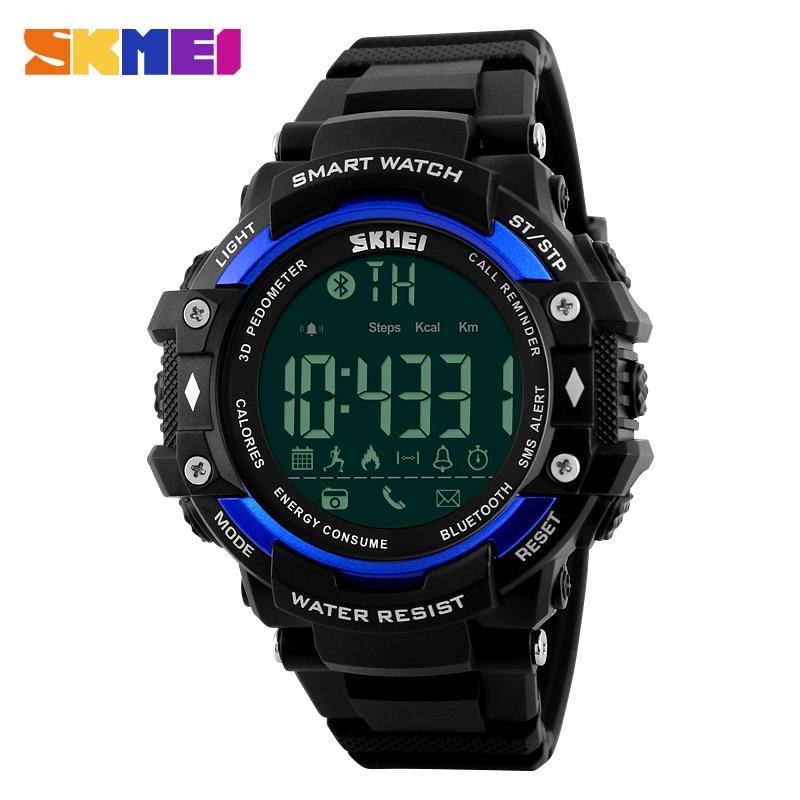 SKMEI Smart Watch Men Outdoor Sports Watches Pedometer Calorie Bluetooth font b Fitness b font Tracker