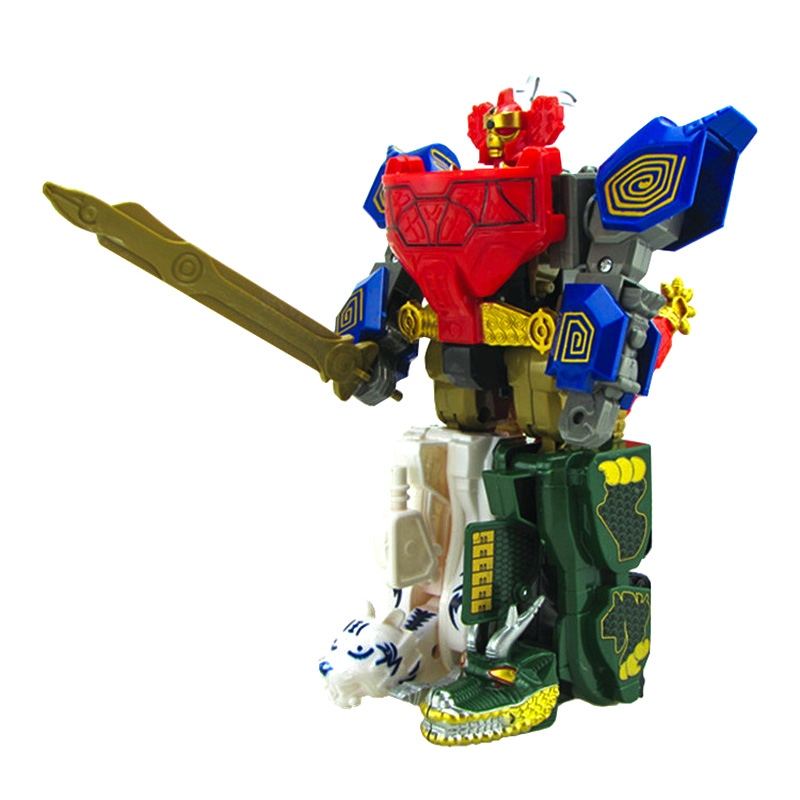 Children Toys Gifts 5 In1 Action Figure Dolls Dinozords Transformation Robot Dinosaur Ranger Megazord цены