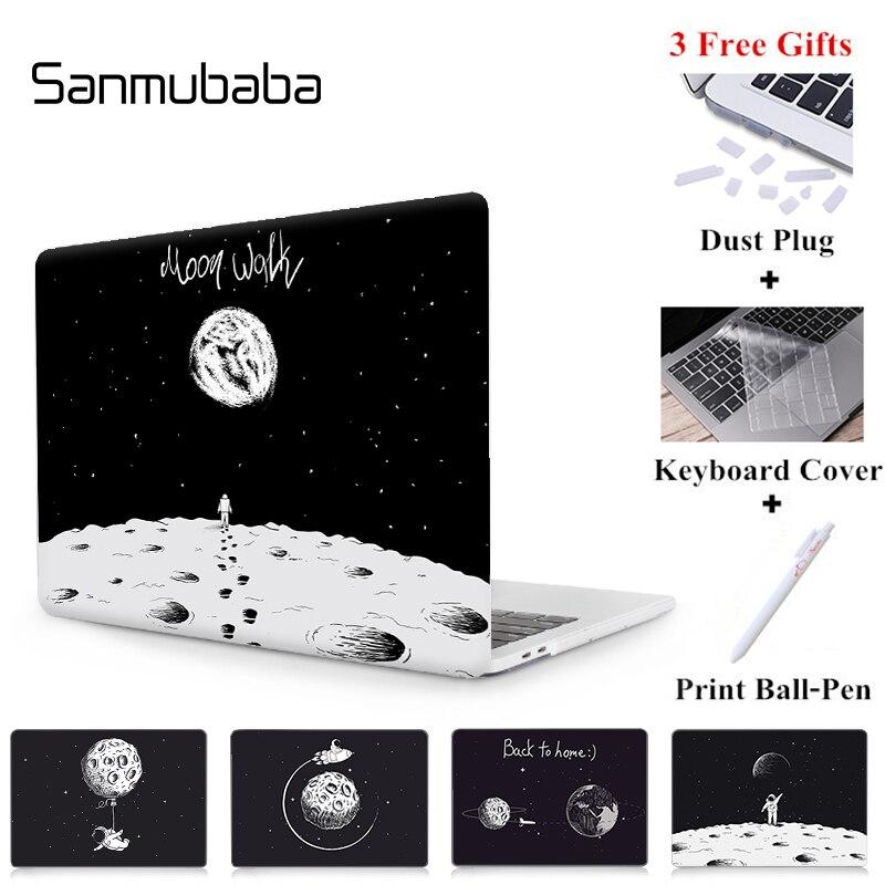 Caso Para Macbook Air Pro Retina 11 Sanmubaba 12 13 15 Com Toque Barra de Espaço Astronauta Capa para mac book caso Laptop de 13.3 polegada