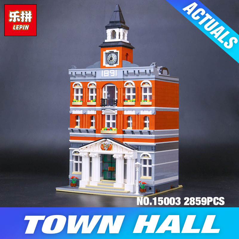 2017 lepin 15003 new 2859Pcs The topwn hall Model Building Blocks font b Kid b font