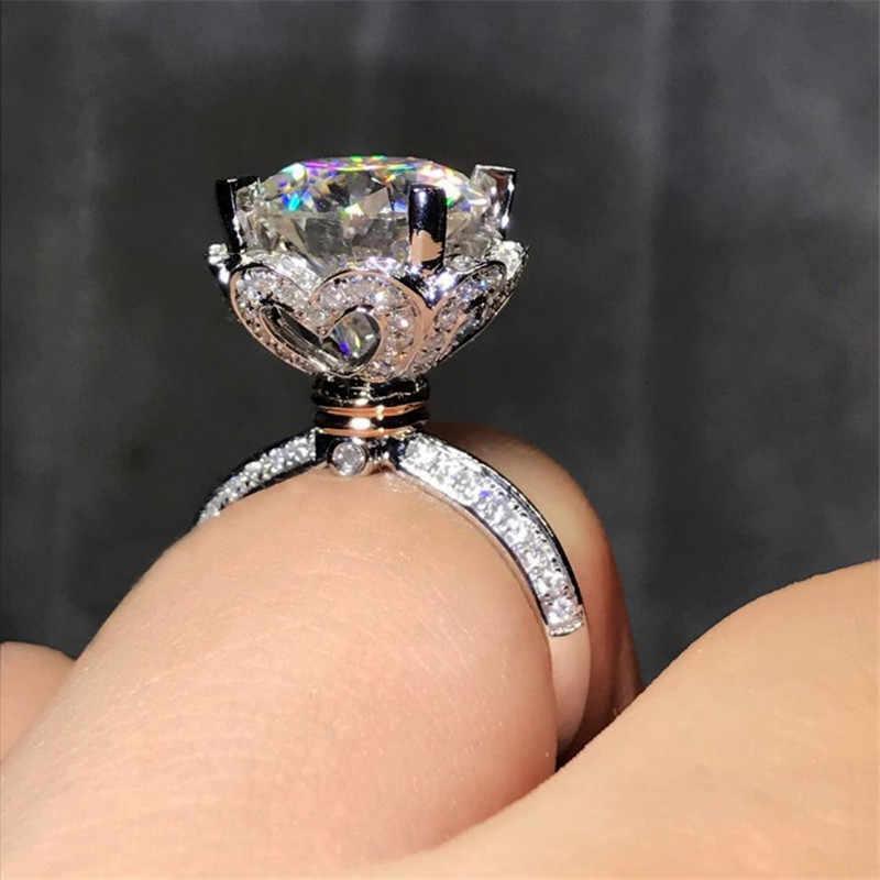 Choucong в форме сердца, 100% Настоящее 925 пробы, серебряное кольцо, 1ct AAAAA, циркон, обручальное кольцо, кольца для мужчин и женщин, ювелирные изделия