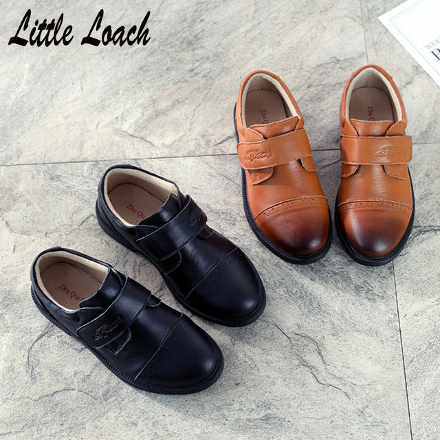 f229b5c6209a Size26-41 Boys Leather Shoes Black Brown Students Formal Shoes Gentlemen s  Party Dress Shoes Soft