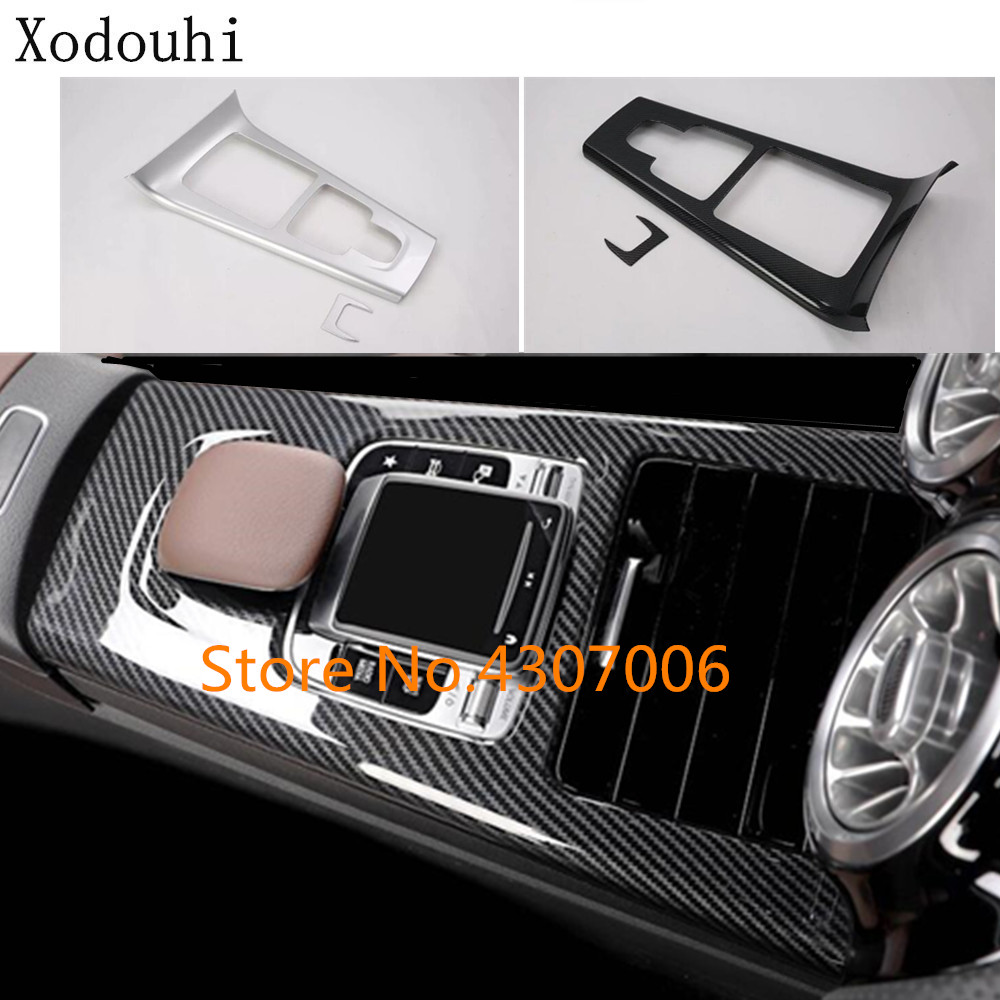 Car styling garnish cover trim stick shift gear box cup holder frame For Mercedes Benz A Class W177 A180 <font><b>A200</b></font> A250 <font><b>2019</b></font> 2020 image