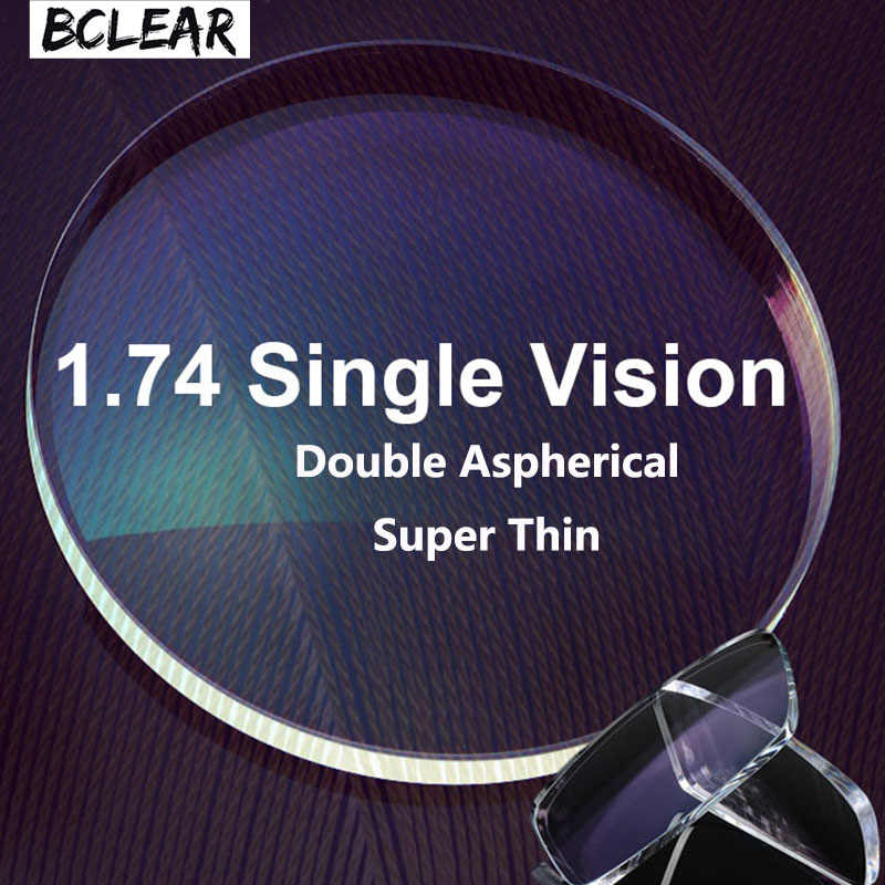 1efa9cd8bb BCLEAR 1.74 Double Aspherical Diopter Lenses High Index Super Thin Aspheric Optical  Prescription Lenses For Myopia