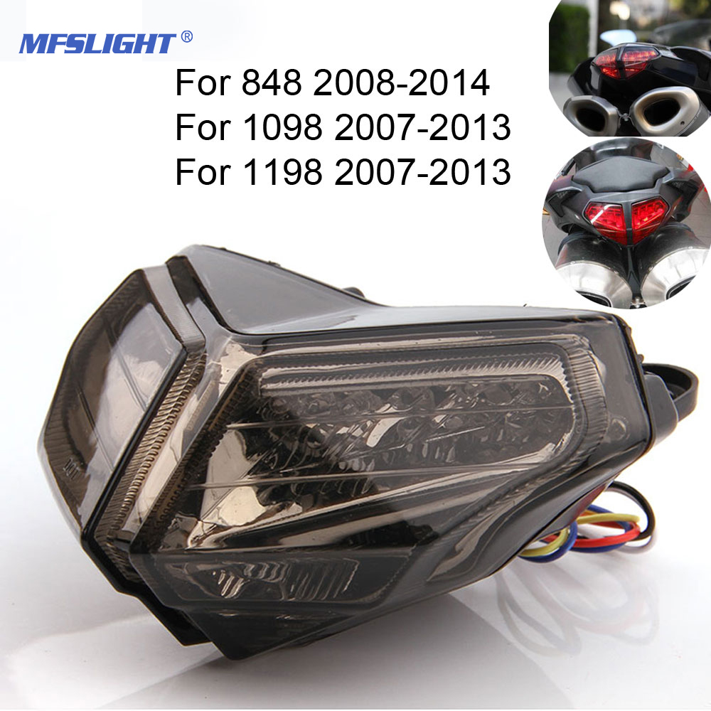 MFSLIGHT Motorcycle Integrated LED Tail Light Brake Turn Signal Blinker For Ducati 848 1098 1198 2008-2013