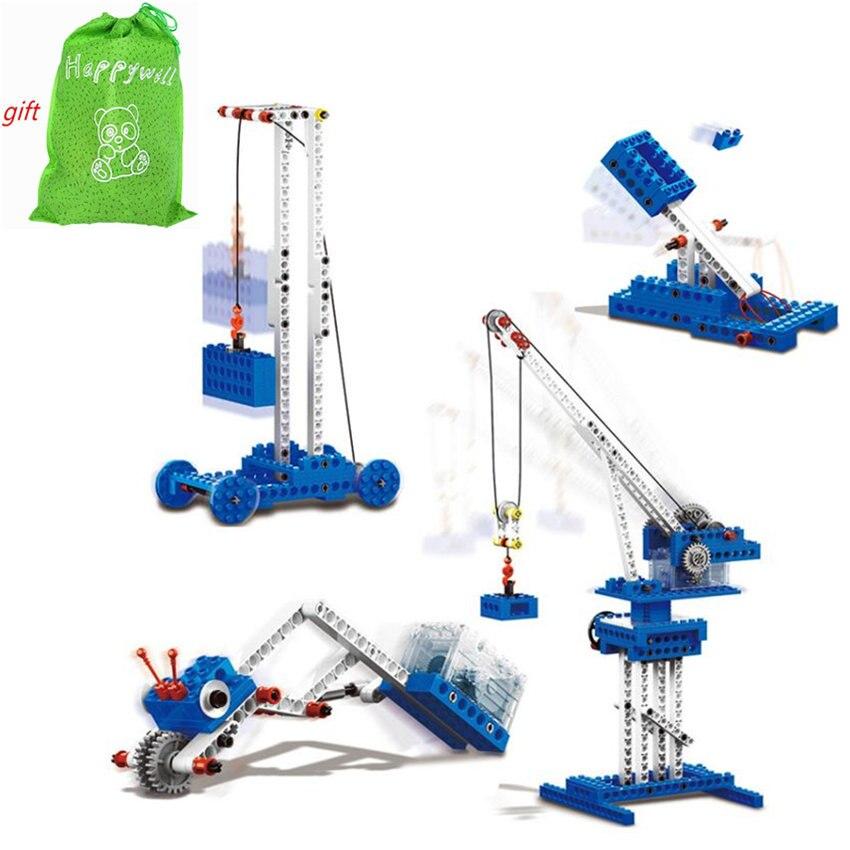 173pcs Wange 1402 Electric font b Toys b font Plastic Model Kits Building Blocks Bricks Set