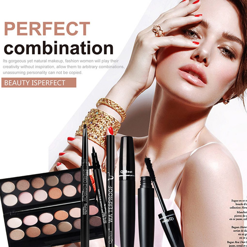 Daily Use Cosmetics Makeup Sets Eye Mascara Mattte Eyeshadow Palette Eyeliner Eyebrow Pencil Cosmetic Sets gift for women