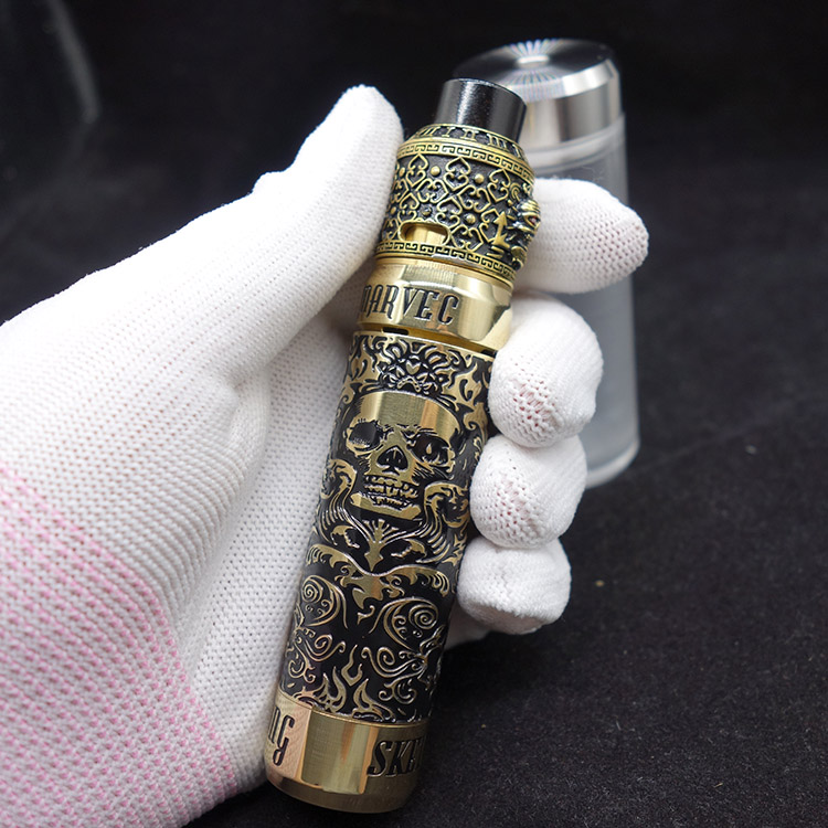 Kit di Sigaretta elettronica In Ottone Re Dei Pirati RDA Con Lo Scheletro King Kong Meccanico Mod Per La Batteria 18650 Vapor Ecig