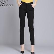 Wmwmnu Women Trousers Work Wear casual Spring Black pencil Pants Plus Size 4XL Female Slim Elastic Pantalones Mujer