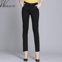 Wmwmnu mujeres Pantalones trabajo primavera casual negro lápiz Pantalones más tamaño 4xl mujer delgada Pantalones elástico Pantalones Mujer