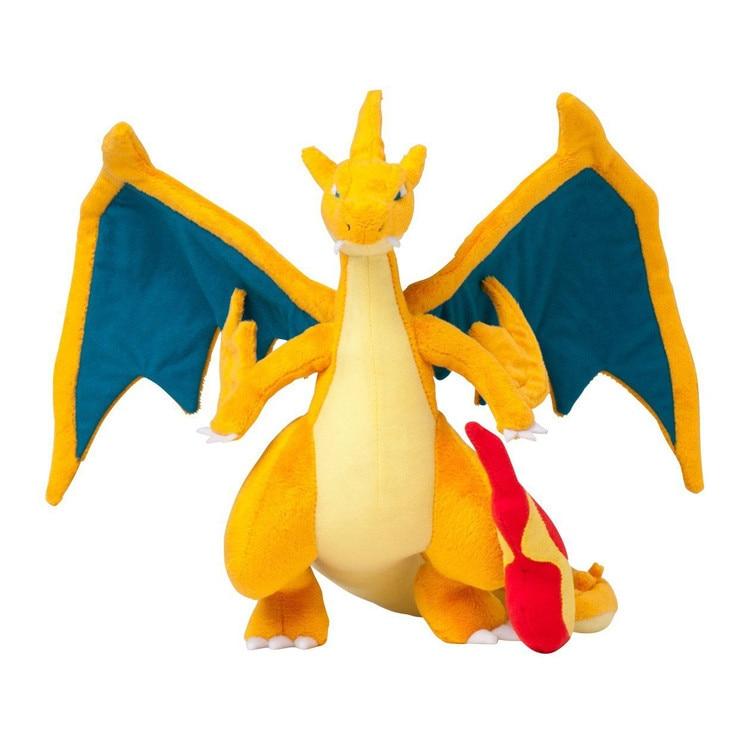 5pcs lot 10 25cm Mega Charizard Plush Toys Pokemon Stuffed Dolls Kids Gifts Free Shipping
