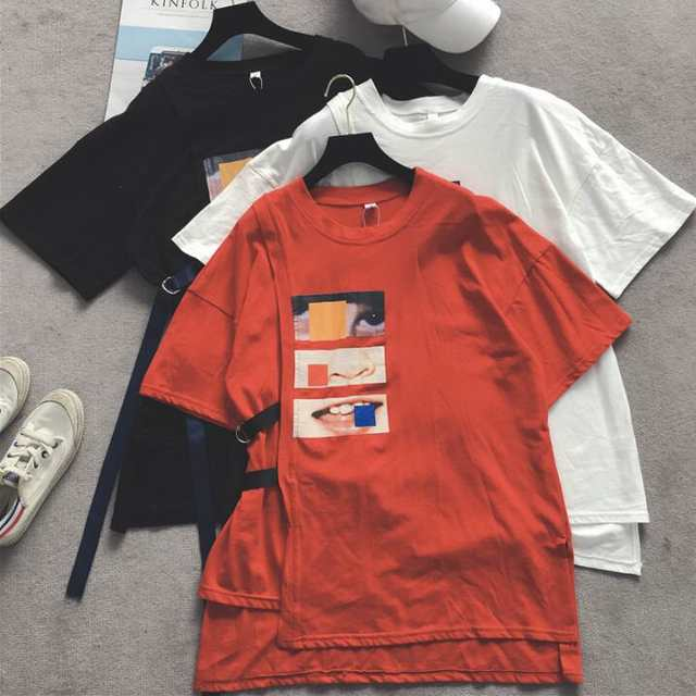 47a28c49a Missoov moda feminina Hipster T shirts summer style ulzzang brand women  tshirt long tops camisetas mujer loose Bandage tees new-in T-Shirts from  Women's ...