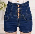 High Waist Denim Shorts Women Sexy Summer Taille Haute Shorts Jeans Woman Casual Single Breasted Bandage Slim Jean Black 4XL 5XL