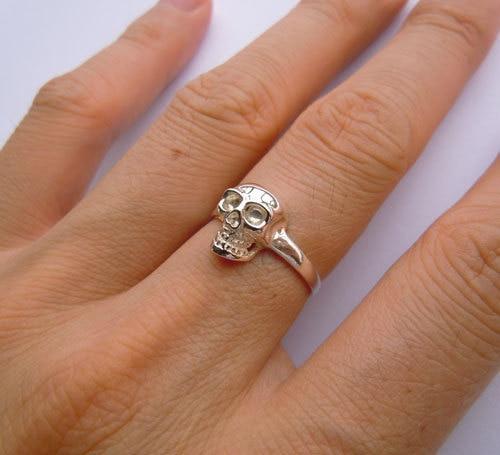 Ստերլինգ արծաթյա գանգ օղակաձև բոլոր - Նորաձև զարդեր - Լուսանկար 3