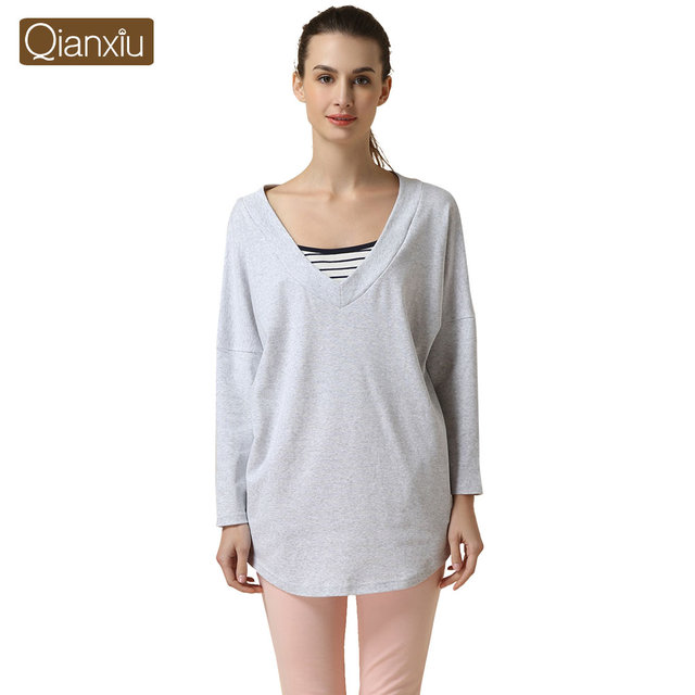 2019 Spring Brand homewear Women Casual Pajama sets Female long sleeve  sleep shirt   leggings Ladies Soft Cotton sleepwear suit e4af4322f