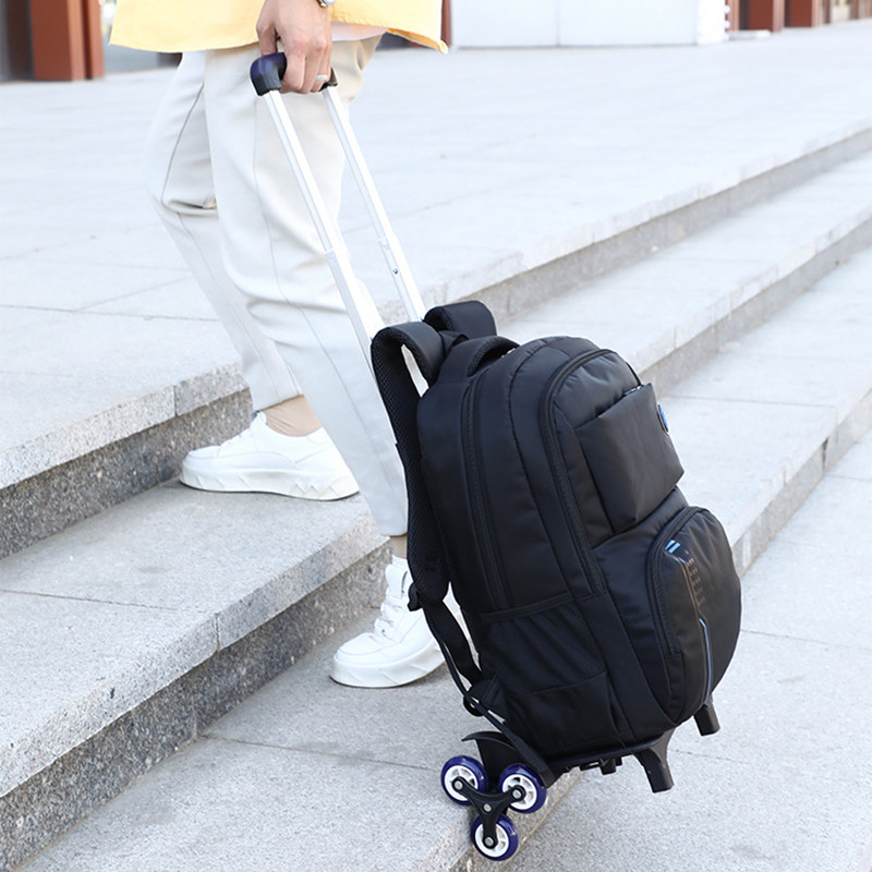 ZIRANYU avec 2/6 roues roulant école sacs à dos filles garçons trolley sacs monter escaliers sac à dos cartable adolescente bookbag